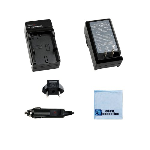 ecost memory cards Battery Charger for Panasonic VW-VBG, VW-VBG6 Camcorder Battery + Microfiber Cloth by eCost Connection