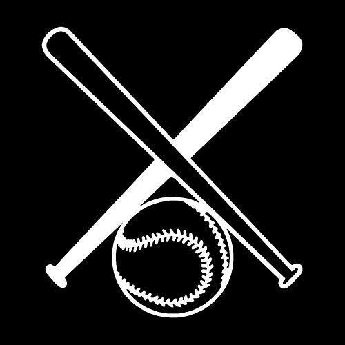 ZCZWQ Baseball-Aufkleber für Auto, Motorrad, wasserdicht, Schwarz und Silber, 15,9 x 17,7 cm (Farbe: Silber)