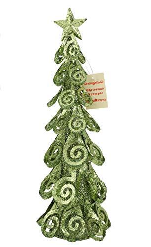 16 pouces en métal Swirl Pétale Arbre avec Silver Glitter - Décoration de Noël