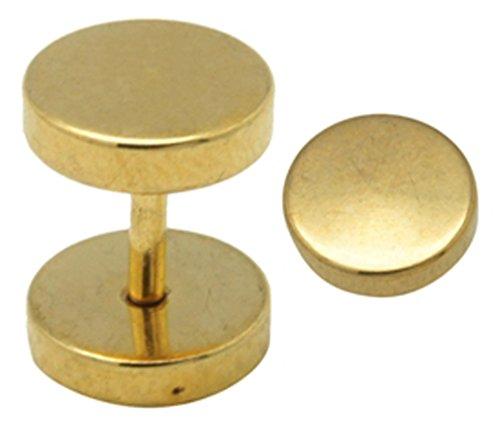 Falso plug titanio placa de oro de acero quirúrgico 1 par �