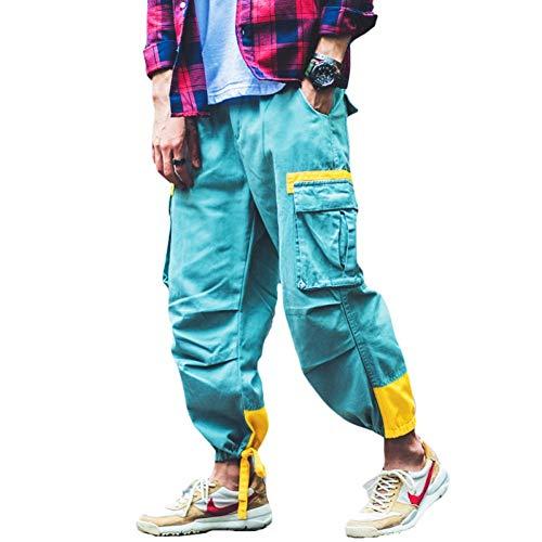 HNRLSL Pantalones Harem Cargo Otoño Mens Joggers Moda Cargo Pantalones Bolsillos Vendajes Pies Pantalones de chándal Casuales Hip Hop Swag Harem Pantalones