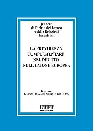 La previdenza Complementare nel Diritto nellUnione Europea