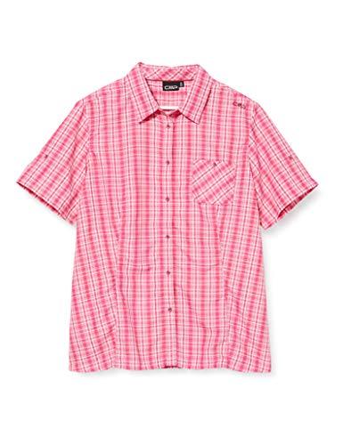 CMP T-Shirt à Manches Courtes pour Femme avec Poche 4XL Bouganville-Goji