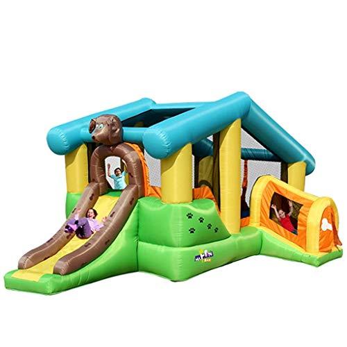 XXY-shop Diapositiva Inflable del Castillo del Juego Inflable de los Castillos hinchables de los niños, Castillo Inflable al Aire Libre Grande casero trampolín Cuadrado diversión al Aire Libre