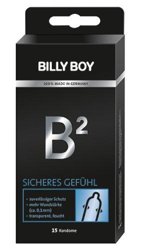 Billy Boy B² Sicheres Gefühl Kondome mit 0.1mm Wandstärke. 15er Packung. 15 Kondome