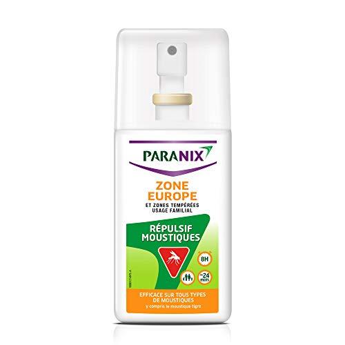 Paranix Répulsif Moustiques Zone Europe et Zones Tempérées – Protection 8 H – Spray 90ml