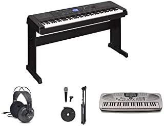 Yamaha DGX660 Play Piano Package with Portable Keyboard, Headphones, and Microphone Value Pack