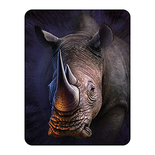 3D LiveLife Magnet - White Rhino from Deluxebase. Lenticular 3D Rhino Fridge Magnet. Magnetic decor for kids and adults with artwork licensed from renowned artist, David Penfound
