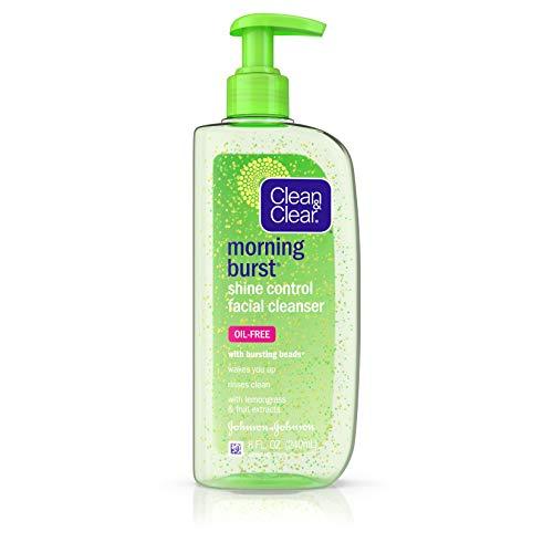 Clean & Clear Lotion nettoyante pour le visage Morning Burst Shine Control - Extraits de fruits et de citronnelle pour maitriser la luisance - 235 ml