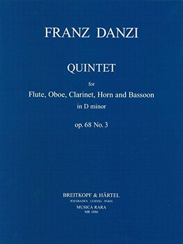 Quintett d-moll op. 68/3 für Flöte, ob, Klarinette, Horn, Fagott - Stimmensatz (MR 1086)