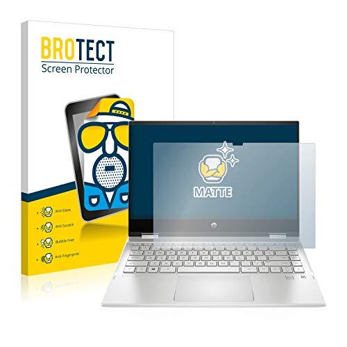 BROTECT Entspiegelungs-Schutzfolie kompatibel mit HP Pavilion x360 14-dw0156ng Bildschirmschutz-Folie Matt, Anti-Reflex, Anti-Fingerprint