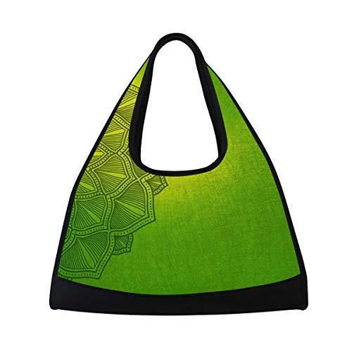 MONTOJ Vintage Mandala Tote Bags para deportes Gym Bag Multiusos, color 4, tamaño talla única
