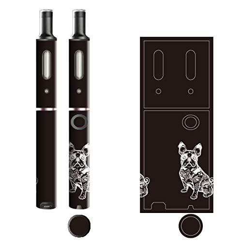 電子たばこ タバコ 煙草 喫煙具 専用スキンシール 対応機種 プルームテックプラスシール Ploom Tech Plus シール ラインアート Black & White 12 ブルドッグ 21-pt08-0108