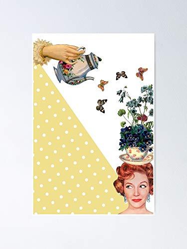 Póster de la hora del té para imprimir con cita y cita para pared, ideal para pared, diseño de familia, amigos, hermano, hermana y niños.