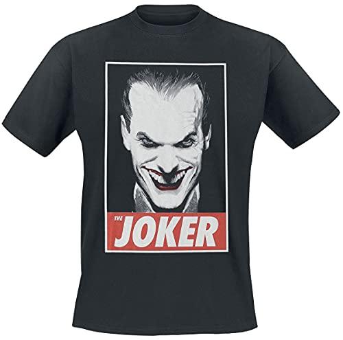 Batman Joker Hombre Camiseta Negro XXL, 100% algodón, Regular