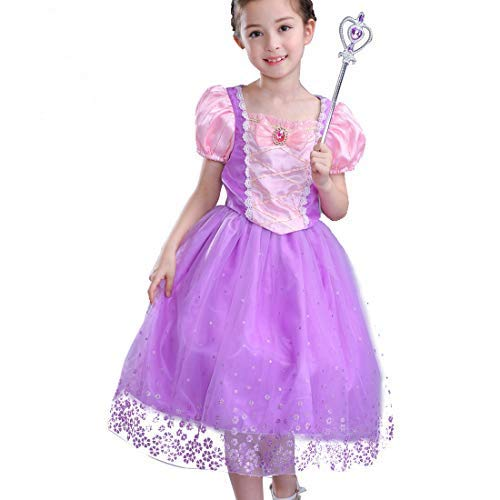 CosPrincely Niña Disfraz de Princesa Vestido de Princesa Carnaval Cosplay Halloween Fiesta Cumpleaños