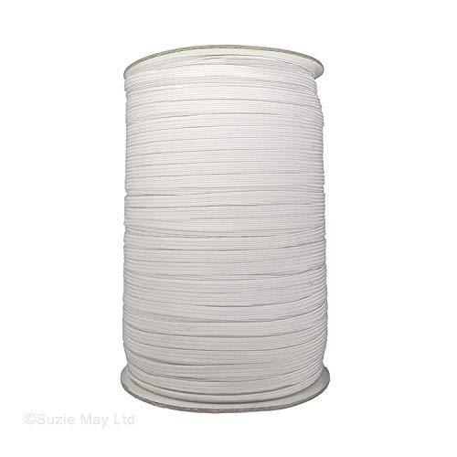 Trimming Shop Elastische koord voor het maken van taillebanden, banden, armbanden, lingerie, linten, textiel ambachten, doe-het-zelf projecten, elastisch en rekbaar