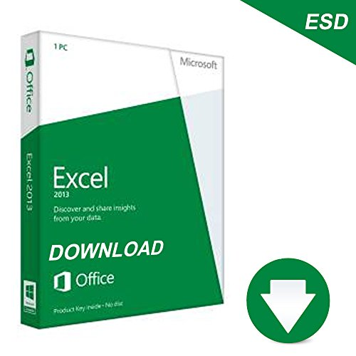 Microsoft Excel 2013 - Lizenz - 1 PC - Download - 32/64-bit, ESD, Click-to-Run - Win