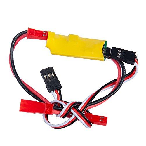 ZuoLan 1 Stück Hochstromunabhängige Stromversorgung RC Auto Licht Steuerschalter System für 1/10 RC Auto