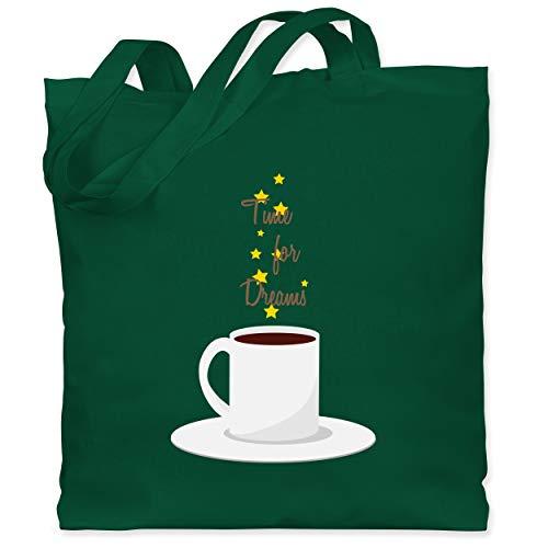 Shirtracer Küche - Kaffee-Tee-Spruch - Unisize - Dunkelgrün - spruch tee - WM101 - Stoffbeutel aus Baumwolle Jutebeutel lange Henkel