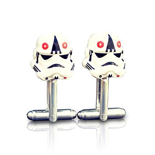 Stormtrooper at Star Wars Manschettenknöpfe handgefertigt aus Lego® Minifigurenköpfen, Hochzeit, Bräutigam, Geschenkbeutel
