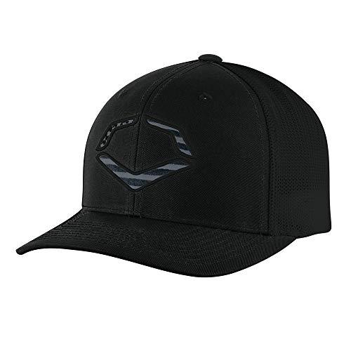 EvoShield USA Logo Flexfit Hat, Black - Large/X-Large