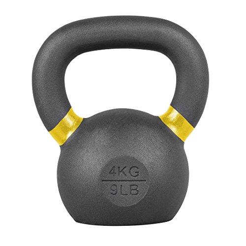 LifeLine Premium Kettlebell Gewichthanteln Fitness-Trainingsgerät (mehrere Gewichte erhältlich), Kettlebells - 4KG, 4 kg/8.8 lb - Pale Yellow, 4 kg/8.8 lb