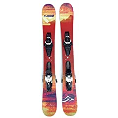 Premounted with Atomic L10 Release Adjustable Bindings w. Brakes Super easy adult fun with smooth turns, grip on hardpack and short turn radius