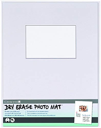 Crescent Creative Products White Dry Erase Photo Mat, 11