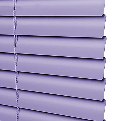 uxhbla blinds Purple Kitchen Blackout Blinds Light Filtering, 1'' Aluminum Alloy Metal Slats Window Shade Open Close, 50-130cm Wide Customizable (Color : W 90cm, Size : H 120cm)