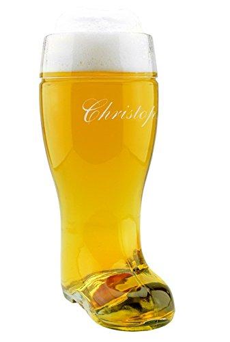4you Design XXL Bierstiefel mit Gravur (mit Namen), Trinkstiefel, Stiefel, Bierglas, Bier-Boots, Herren, Männer, für Ihn, Geschenkidee für Bierliebhaber, Geburtstagsgeschenk
