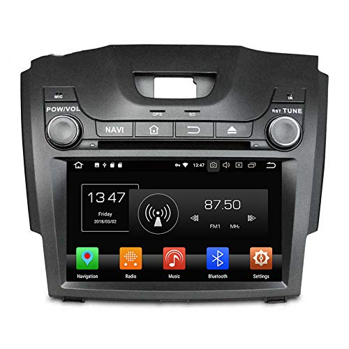 WHL.HH Androide 6 Auto Estéreo GPS Navegación IPS Pantalla táctil Cabeza Unidades Autoradio Video DVD Multimedia Jugador Apoyo Direccion Rueda Control, por Isuzu D-MAX 2013-2014