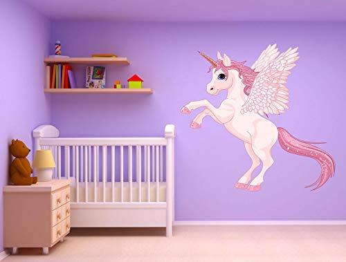 ufengke Stickers Muraux F/ée Licorne Autocollants Mural Fleur DIY pour Chambre Enfants Fille B/éb/é P/épini/ère Salon D/écoration Murale