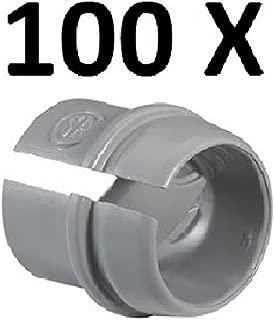 PREMIUM QUALITY Set 100 PACK of Plastic Push Snap - In ROMEX CONNECTOR 1/2