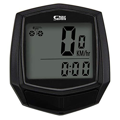 Longzhuo Wasserdichter kabelgebundener Fahrrad-Tachometer mit Montageset LCD-Display Multifunktions-Stoppuhr Computer Kilometerzähler Sport Outdoor-Zubehör
