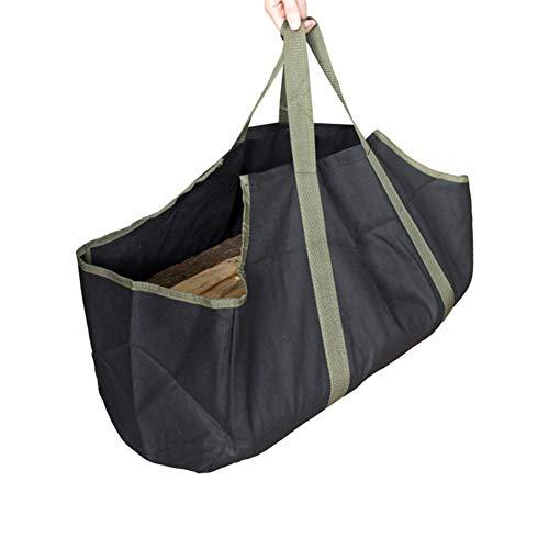 Ningb Firewood Tote Bag Canvas Log Opslag Pakket dragers voor open haard berkenhout