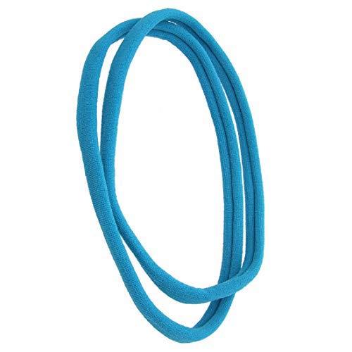 1141 – 002 – Lot 2 pièces bandeaux pour cheveux mixte cm 1 en filanca Made in Italy – Idéales pour sport – Bandeau pour cheveux Lunghezza cm. 10 turquoise