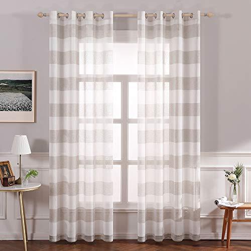 cortinas translucidas marrones