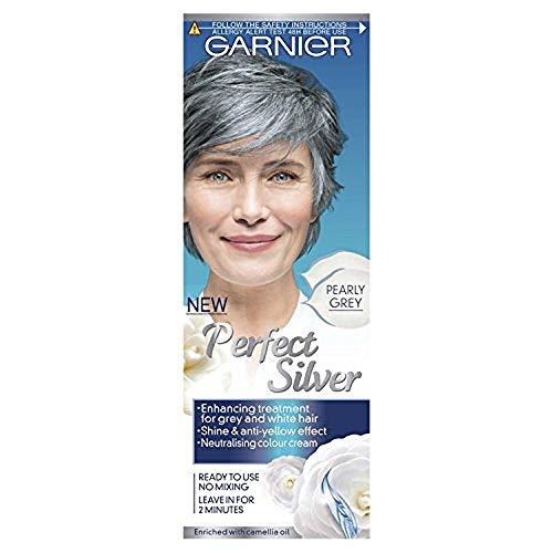 Garnier Perfect Silver neutralisierende Creme für graues Haar, grau