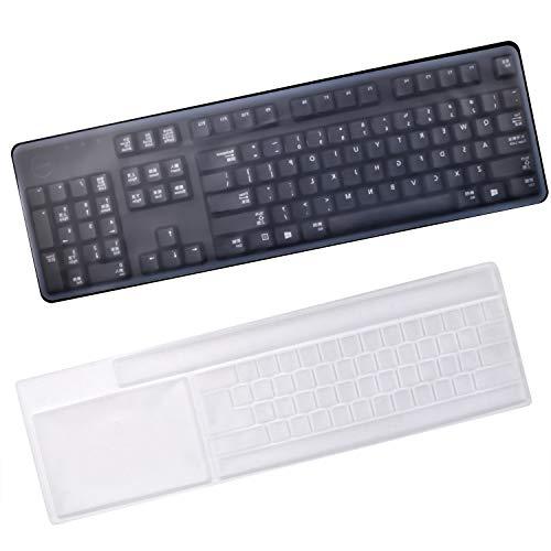 Aylifu Tastatur Schutzhülle, 2 Stück Universal Tastatur-Staubschutzhaube Tastenschutz Silikon Tastatur Hautschutzfolie für PC Desktop Computer - 44,7 x 14 cm