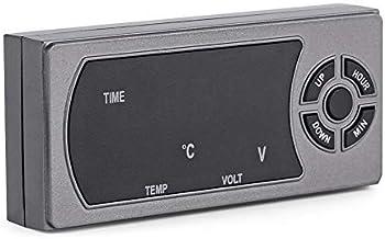 3 en 1 12-24 V Coche Vehículo LED Reloj digital Termómetro Voltímetro con alta sensibilidad para uso universal
