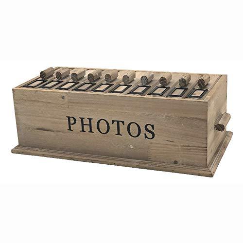 Chemin_de_Land Grote box voor fotoalbum, hout, 44,50 cm x 23 cm