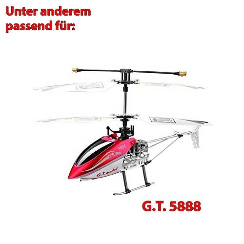 Original Ersatzteile-Set für RC Hubschrauber GT 5888 mit Rotorblätter, 2 Stabilisatoren und 2 Verbindungsstücke