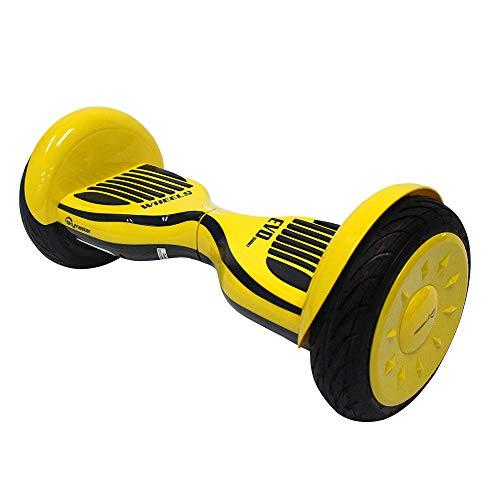 Hoverboard con LED e Borsa per Il Trasporto, 10 Pollici Scooter Elettrico Auto bilanciato Certificato UL2272, Smart Flash Skateboard a Due Ruote per Bambini e Adulti,2 * 350W Motore