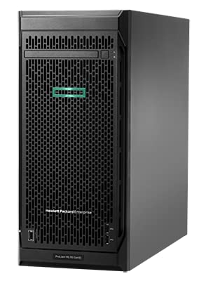 HPE ProLiant ML110 Gen10 Performance Tower Server with one Intel Xeon Scalable 4210R Processor, 16 GB Memory, 8 Small Form Factor Drive Bays, and 800W RPS Power Supply