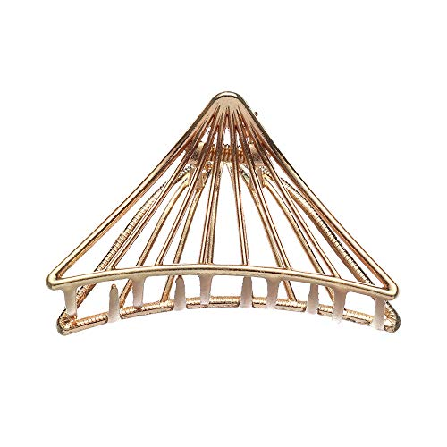 Modische Haarspange, Legierung, hohl, Geschenk, geometrische Form, schlicht, minimalistisch, Metall-Haarkrallen (Typ 6)