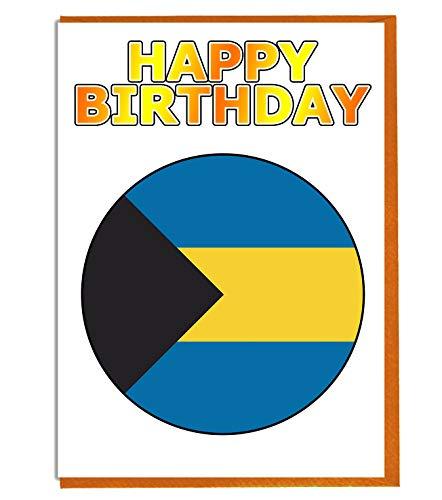 Bahamas Vlag - Verjaardagskaart - Vriend - Familie - Collega - Mate - Baas - Geliefde