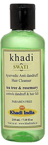 Glamorous Hub Khadi Swati Limpiador de Cabello Anticaspa con Árbol de Té y Romero 210 Ml (El Embalaje Puede Variar)