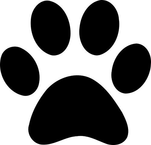 12pegatinas adhesivas de vinilo de huellas de perro para coche