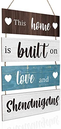 Home Sign Large Hanging Wood Sign Family Rustic Wall Decor Farmhouse Decoration for Living Room product image